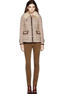 Tory Burch Jasmine Glen Plaid Coat - Lyst