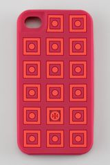 Tory Burch Square Dots Silicone Iphone 4 Case Winesap Redapple - Lyst