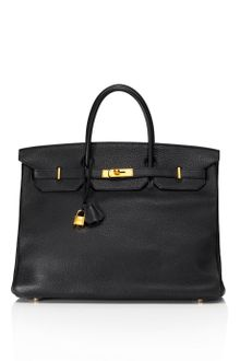 Vintage Hermès From Heritage Auctions Vintage 40cm Black Clemence Leather Birkin - Lyst