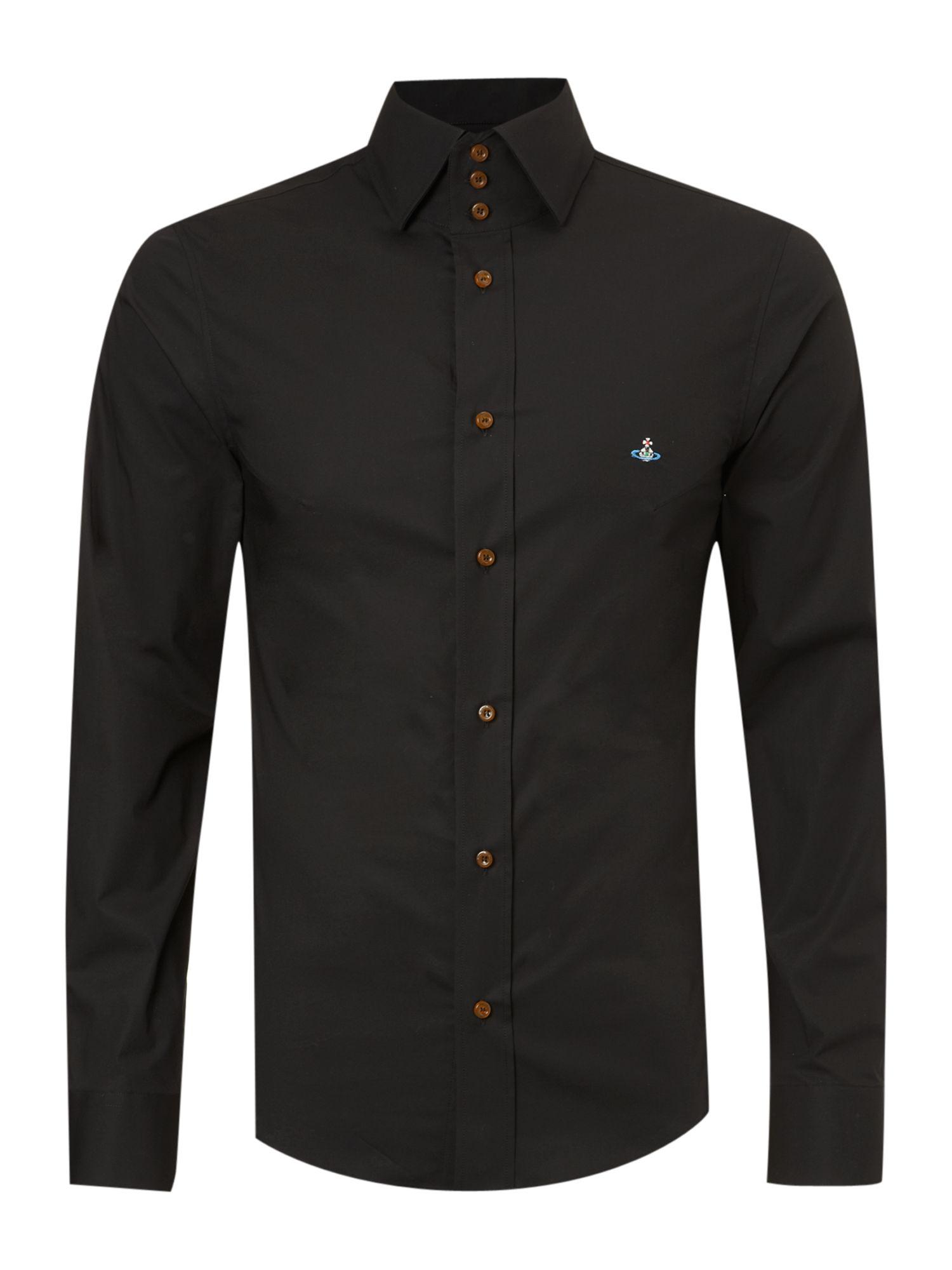 Vivienne Westwood Button Down Shirt In Black For Men Lyst