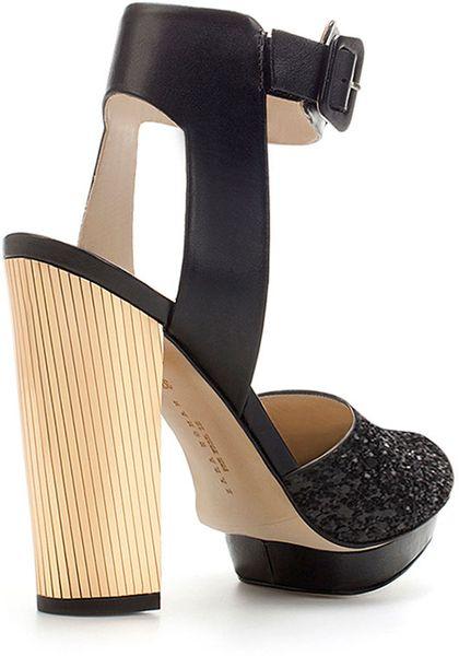 Zara Glitter Platform Sandals 47