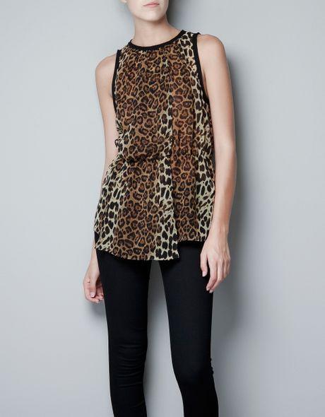 Zara Leopard Blouse 5