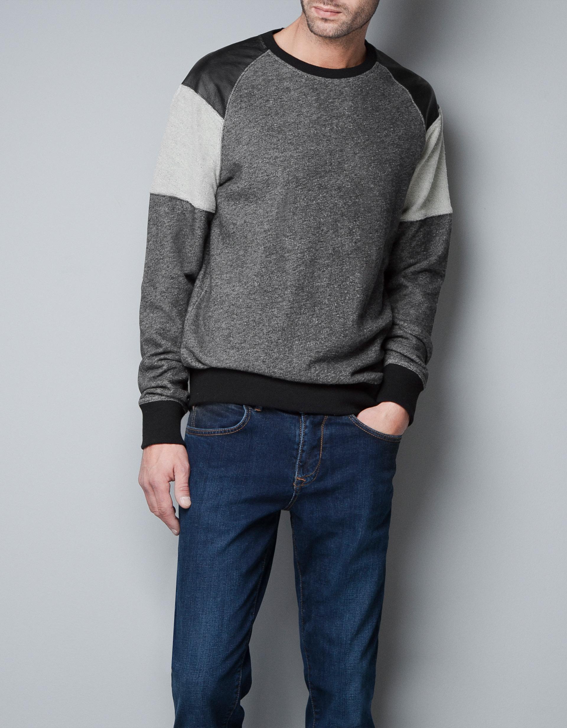 style populaire nouveau design service durable zara homme sweat shirt