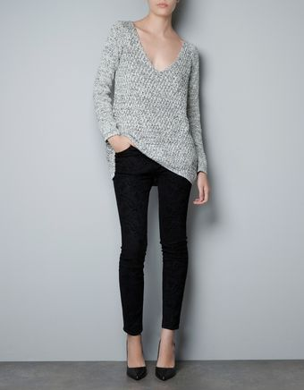 Zara Twisted Yarn Sweater - Lyst