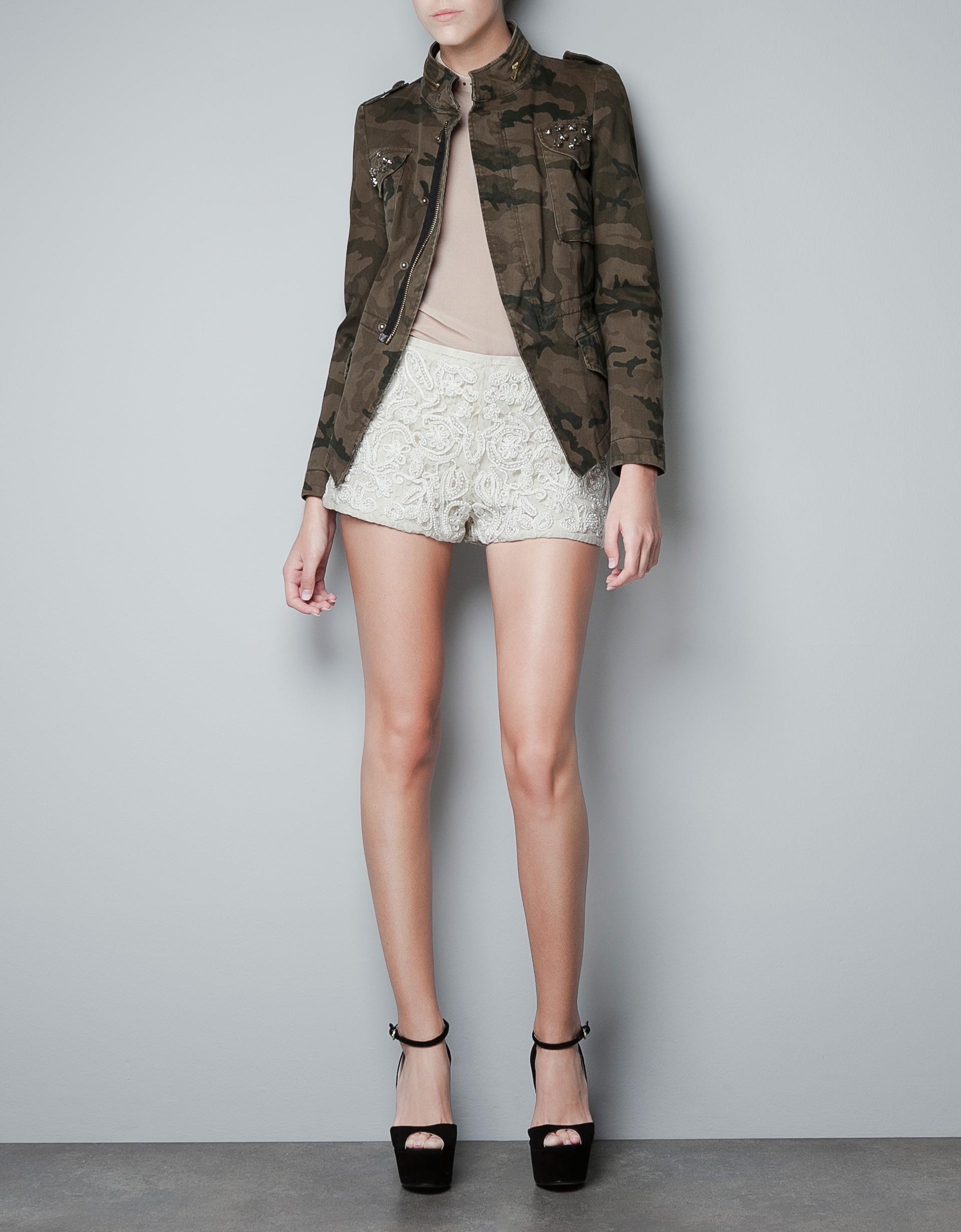 Lastest Zara Jeans  SALEZara Woman Camouflage Jeans