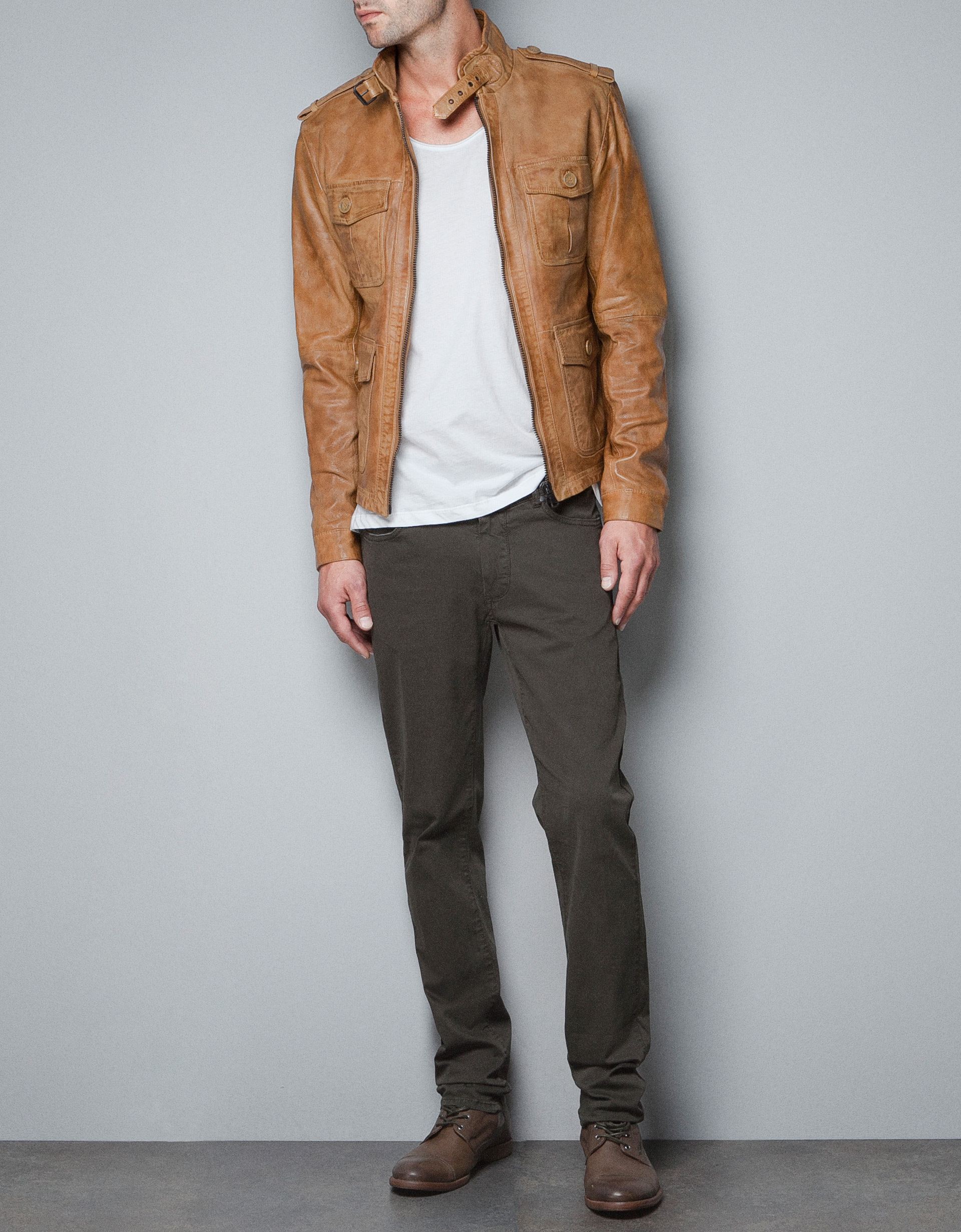 Zara leather jackets for men