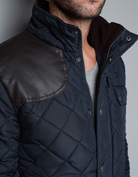 Zara Quilted Leather Jacket in Gray for Men (Grey) | Lyst