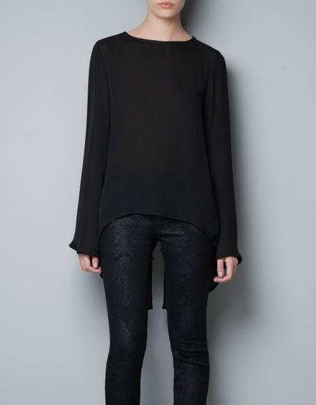 Zara Open Back Blouse 8