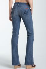 7 For All Mankind Stretch Denim Bootcut Jeans - Lyst