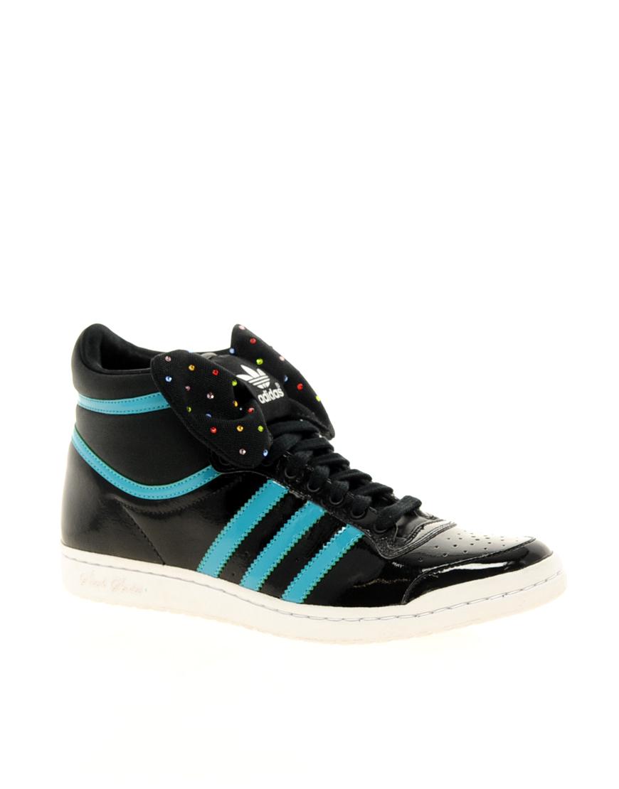 Adidas Top Ten Hi Sleek Bow Black Trainers