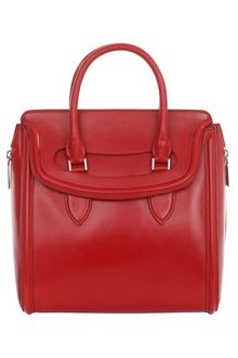 Alexander McQueen Red Polished Leather Medium Heroine - Lyst