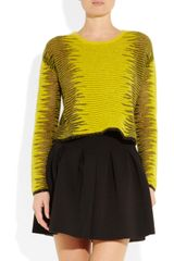 Alexander Wang Fine Knit Sweater in Yellow (black) - Lyst