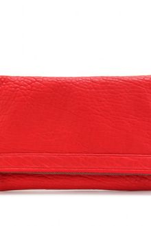 Alexander Wang Textured Leather Clutch - Lyst