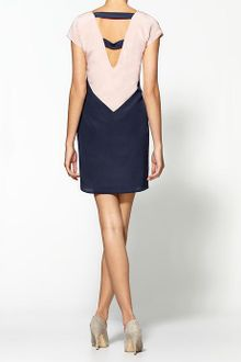 Aryn K. Twotone Color Block Dress - Lyst