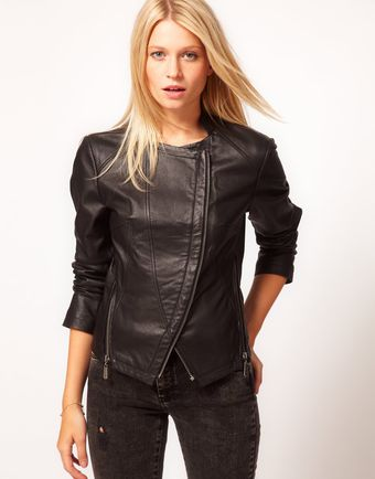ASOS Collection Asos Curved Biker with Zip Detail - Lyst