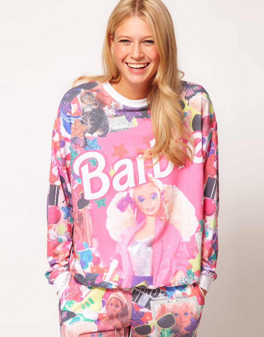 Lyst Asos Collection Sweatshirt In Barbie Print