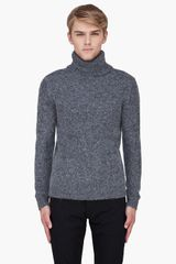 Blk Dnm Grey Alpaca Knit Turtleneck - Lyst