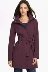 Calvin Klein Fleece Lined Coat with Detachable Hood - Lyst