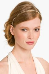 Cara Accessories Skinny Pearl Headband - Lyst