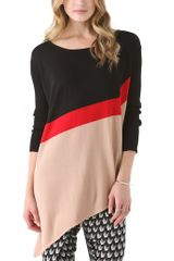 Catherine Malandrino Colorblock Asymmetrical Top - Lyst