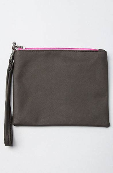 Cheap Monday The Colour Contrast Zip Wallet in Black and Pink in Gray (black)
