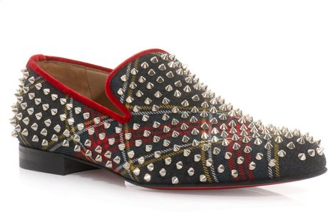Christian Louboutin Rollerboy Spike Loafers in Multicolor for Men (green) - Lyst