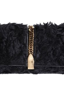 Christian Louboutin Catalina Faux Fur Clutch - Lyst