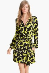 Diane Von Furstenberg Dora Silk Faux Wrap Dress - Lyst