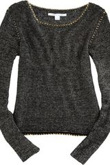 Diane Von Furstenberg Faye Sweater in Black (gold) - Lyst