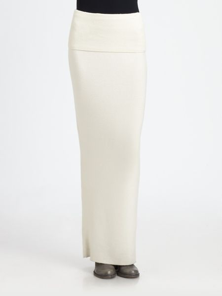 Donna Karan New York First Layer Cashmere Skirt in White (vellum) - Lyst