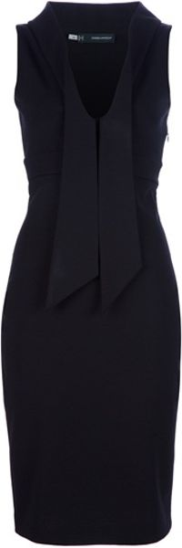 Dsquared2 Sleeveless Dress in Black - Lyst