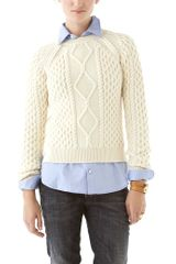 DSquared2 Cable Crew Neck Sweater - Lyst
