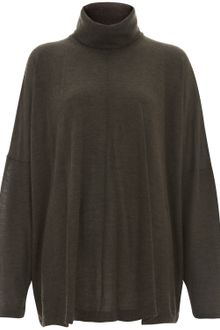 Eskandar Brown Fine Knit Cashmere Roll Neck Jumper - Lyst