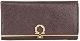 Ferragamo Gancini Icon Leather Wallet - Lyst