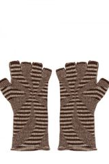 F&mme Cashmere Blend Fingerless Gloves - Lyst
