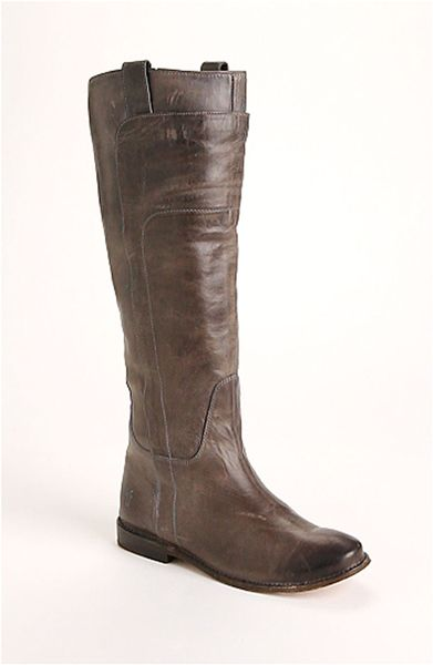 Frye 'Paige' Tall Leather Riding Boot in Beige (grey ...