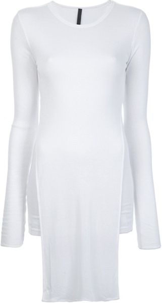 Gareth Pugh Long Sleeved Slit Detail Top in White - Lyst