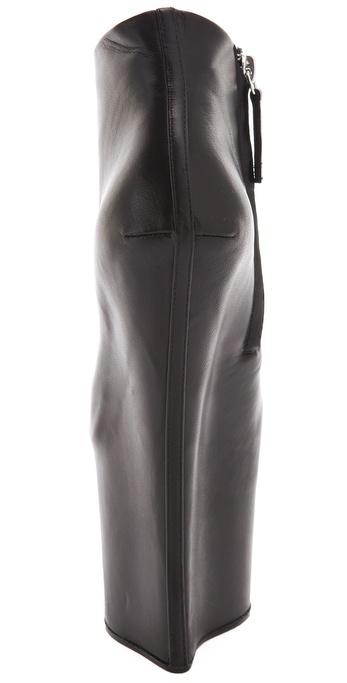 43784785758 Lyst - Giuseppe Zanotti Extreme Platform Wedge Booties in Black