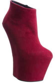 Giuseppe Zanotti Suede High Wedge Ankle Boot - Lyst