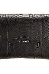 Givenchy Evening Python Antigona Envelope Clutch - Lyst