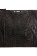 Givenchy Cosmetic Python Medium Clutch - Lyst