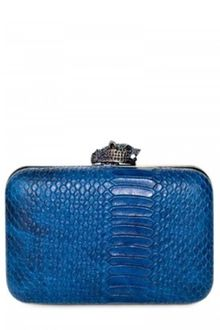House Of Harlow Marley Snake Print Clutch - Lyst