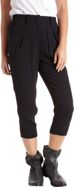 Isabel Marant Cropped Trousers in Black - Lyst