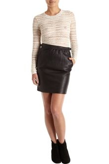 Isabel Marant Leather Skirt - Lyst