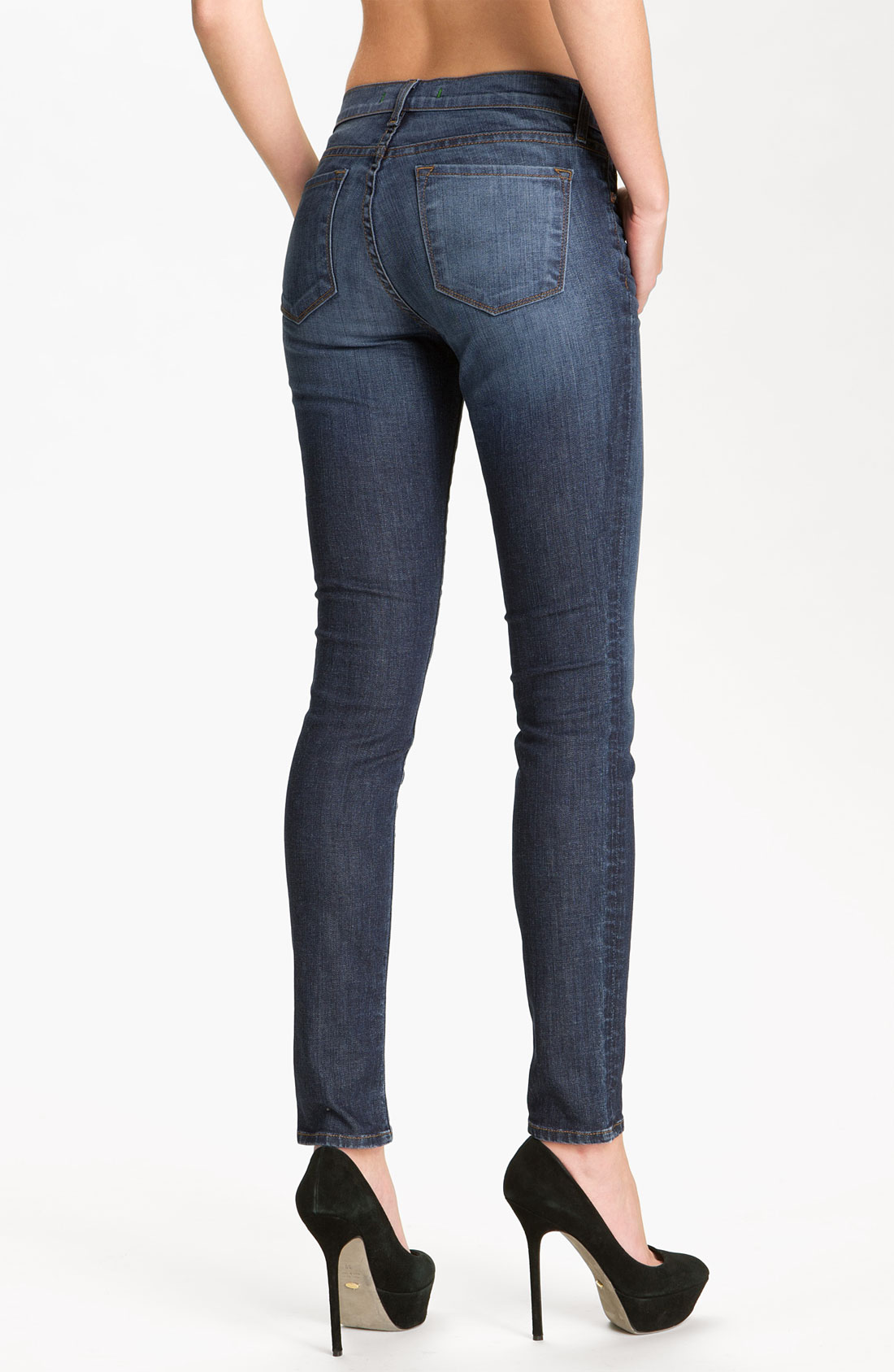 Womens Dark Blue Skinny Jeans