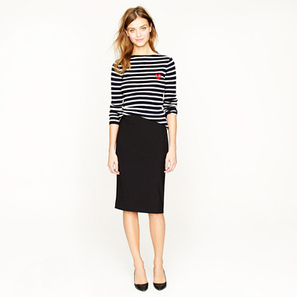 j crew pencil skirt in italian stretch wool in black lyst