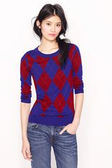 J.Crew Tippi Sweater in Argyle - Lyst