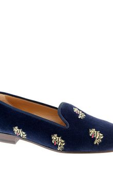 J.Crew Stubbs Wootton For Jcrew Classic Velvet Slippers - Lyst