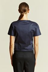Jil Sander Jil Sander Womens Magic Top in Blue (navy) - Lyst