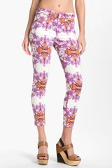 Joe's The High Water Print Crop Skinny Jeans - Lyst